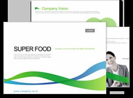 식품가공, 유통6 파워포인트 디자인
