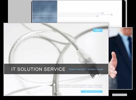 IT, 솔루션, 온라인서비스6 파워포인트 디자인